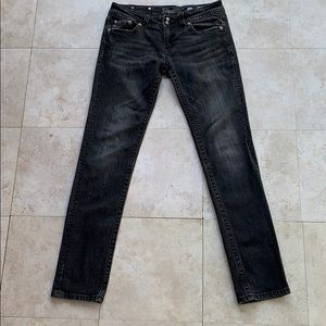 Miss Me Black Skinny Distressed Jeans Size 30